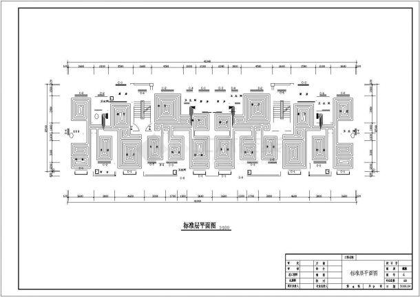 山东某住宅楼地暖设计CAD施工详图-图一