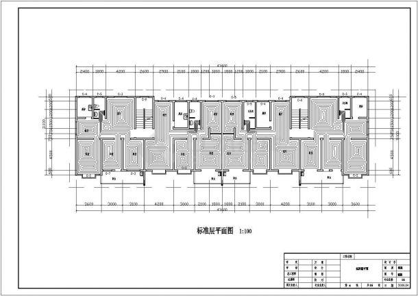 山东某住宅楼地暖设计CAD施工详图-图二