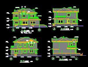 经典别墅全套建筑设计施工图-图一