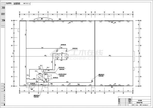 某药厂车间建筑给排水工程设计施工图-图一