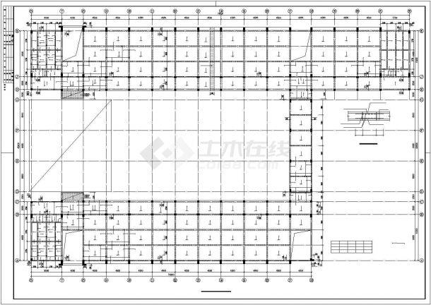 某高校教学楼框架结构设计施工图纸-图一