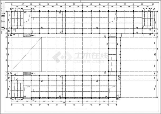 某高校教学楼框架结构设计施工图纸-图二