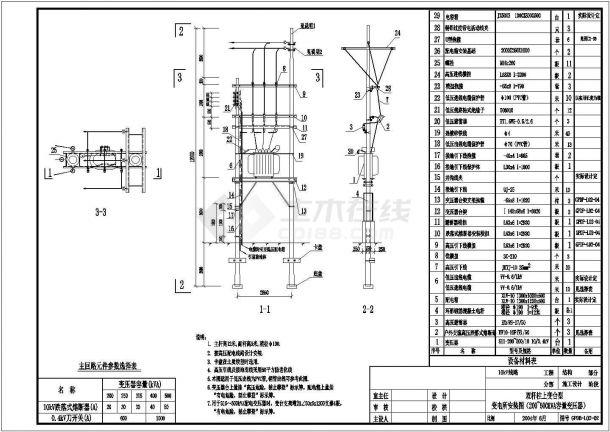 某地区10kV典型供电系统CAD设计图纸-图一