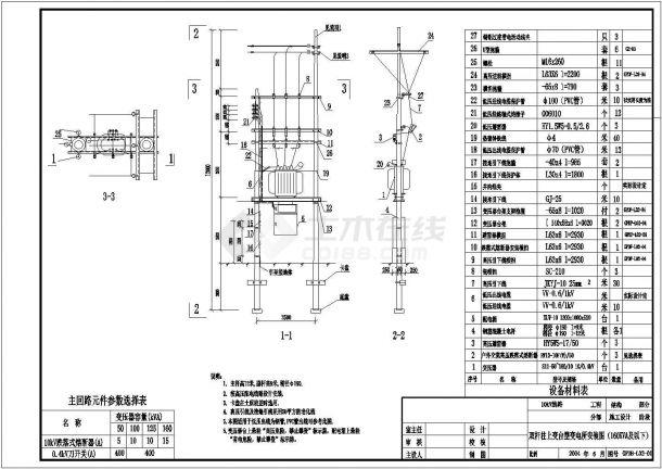 某地区10kV典型供电系统CAD设计图纸-图二