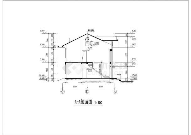 简洁二层舒适新农村自建别墅建筑设计图(全套)-图一