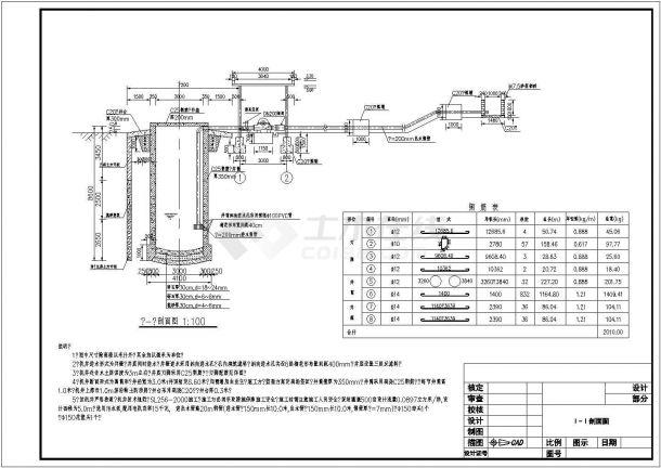 某灌溉机井及泵站设计图-图二