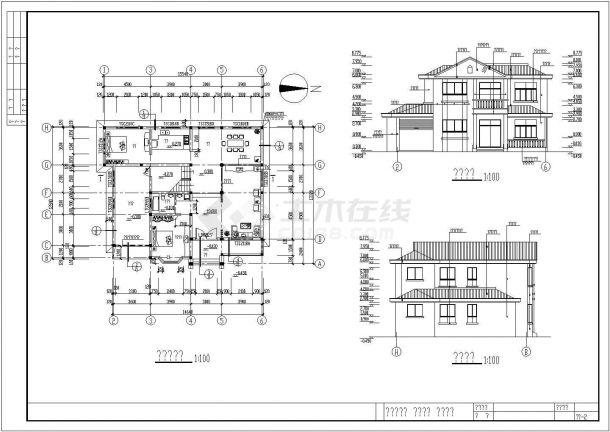 大方舒适二层新农村自建别墅建筑设计施工图(全套)-图一