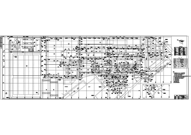 某单位一层框架结构工业厂房给排水设计图-图一
