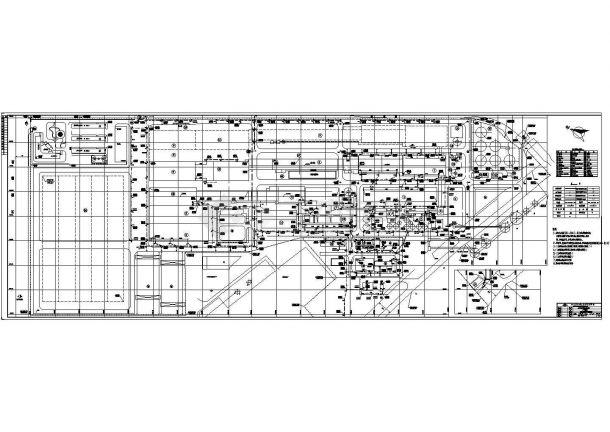 某单位一层框架结构工业厂房给排水设计图-图二