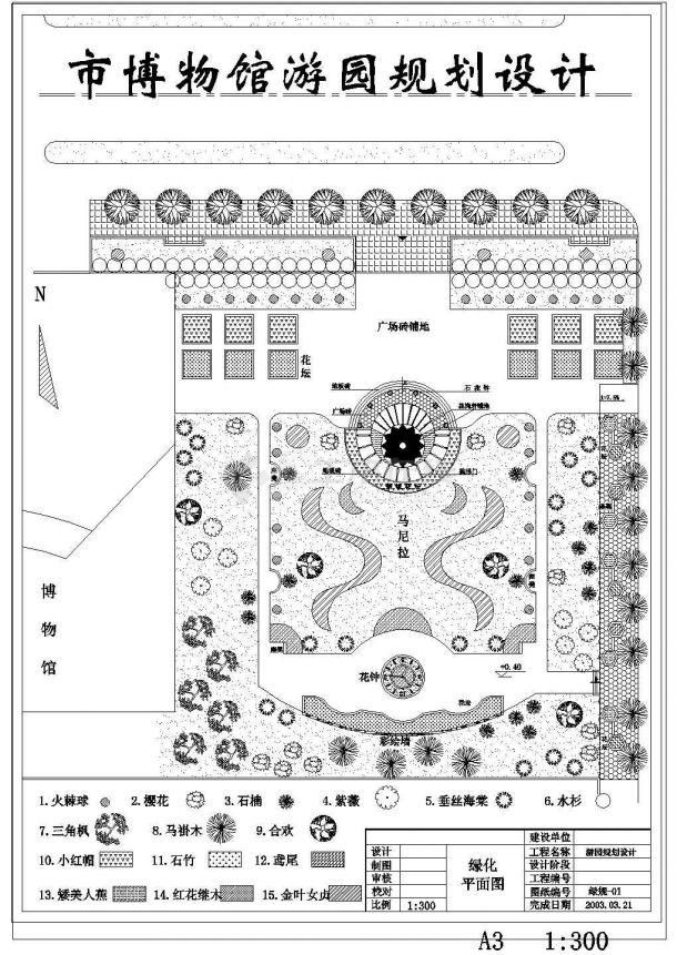 某博物馆景观绿化设计图-图二