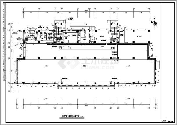 办公楼溴化锂空调cad详细施工方案图纸-图一