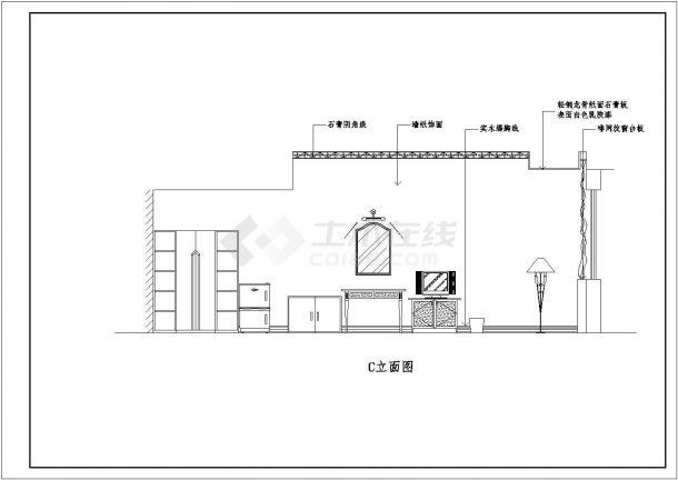 某高档商务酒店全套装修设计施工图-图二