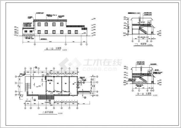 某地区砖混结构餐厅建筑施工设计图-图二