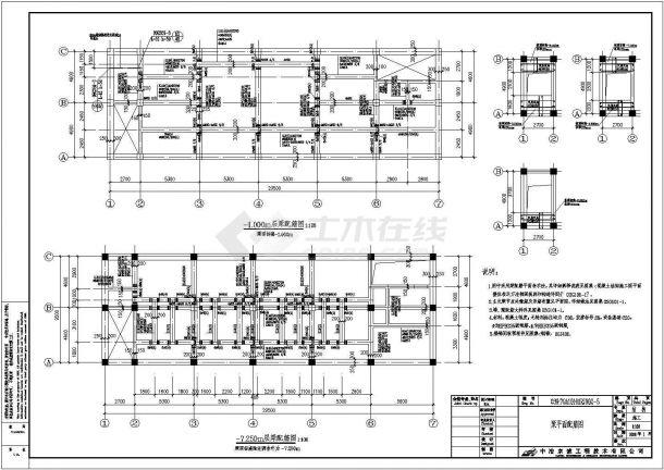 某地燃气锅炉房工程钢筋混凝土结构设计图-图一