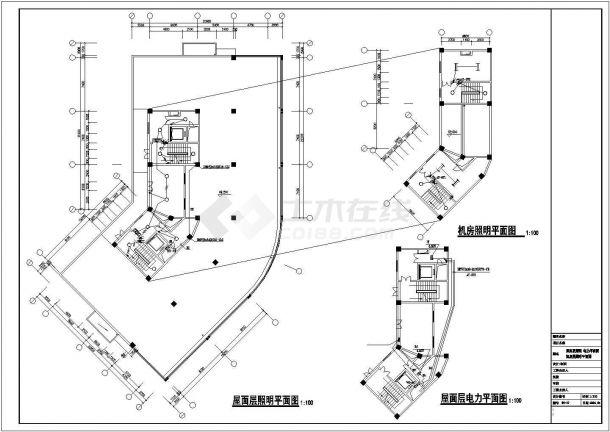 某地高层综合楼商业建筑电气设计图-图一