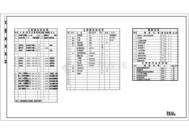 住宅公寓楼电气CAD施工设计图纸-图二