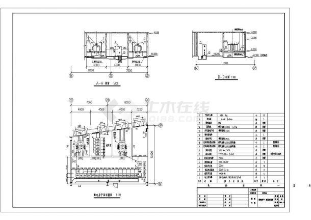 电站变电所电气及设备设计及设备全套图纸-图一