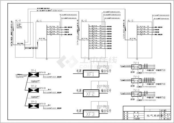 培训中心电气设计方案全套CAD图纸-图二
