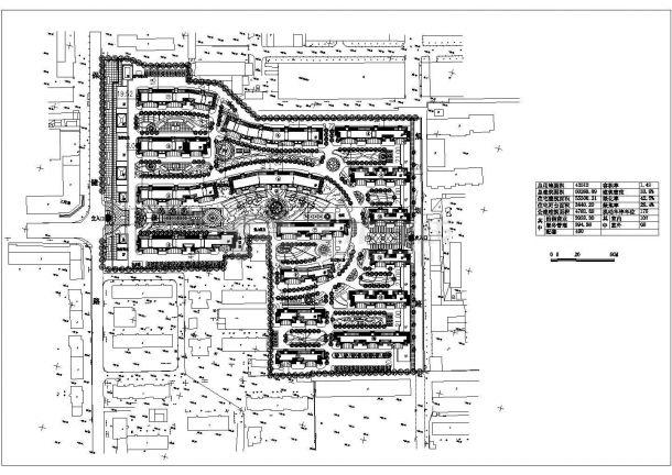 某地沿街综合住宅小区建筑设计规划图-图一