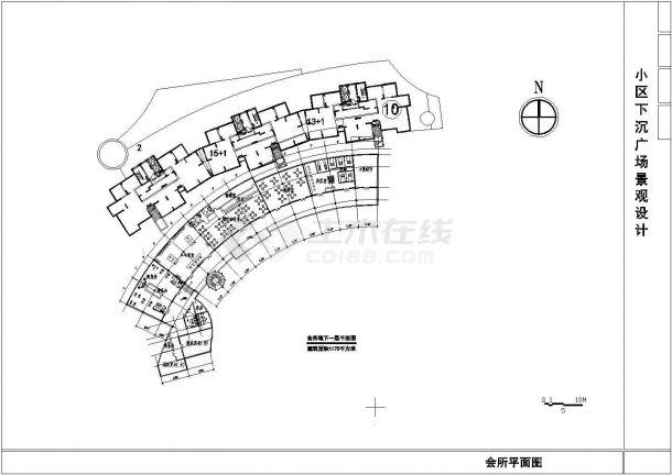 某小区广场景观绿化CAD设计图纸-图一
