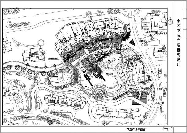 某小区广场景观绿化CAD设计图纸-图二