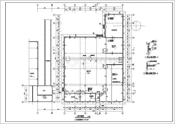 某地钢架结构集中供热锅炉房建筑设计图纸-图二