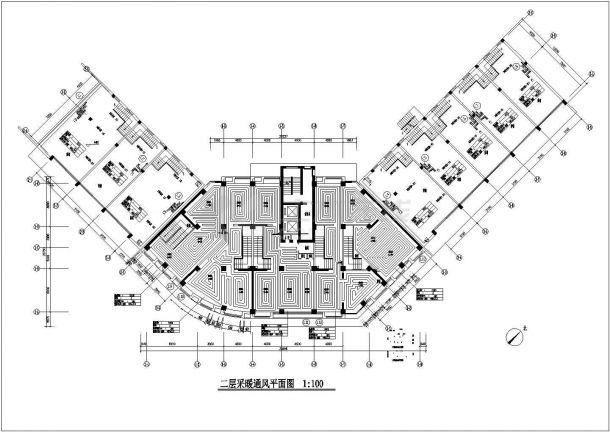 高层商住楼散热器及地板辐射采暖系统设计施工图-图二