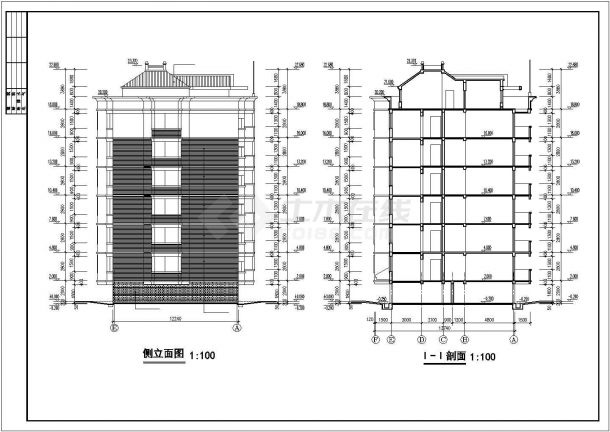 多层经济适用型公寓建筑工程的图纸-图一