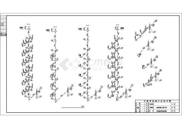 一栋普通住宅楼建筑给水排水设计平面cad图纸-图二