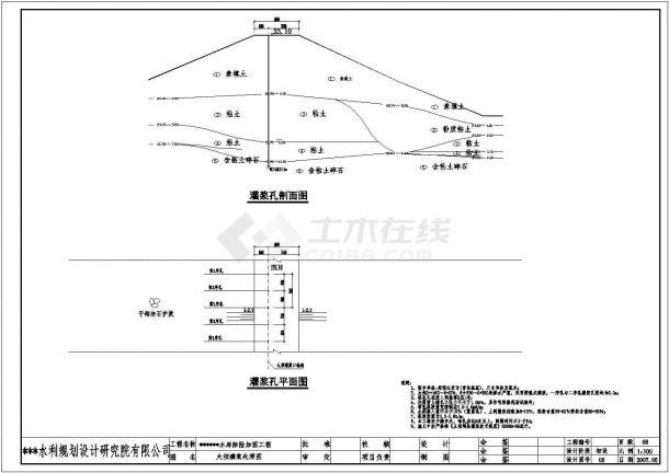 某水库除险加固工程全套初步设计图-图二