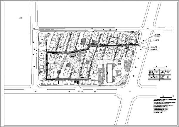 某高档花园小区管线综合设计施工图-图一