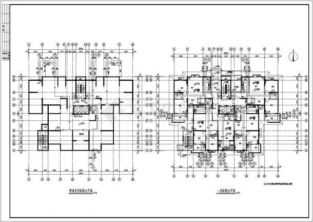 某十八层二类高层住宅楼给排水施工图-图二