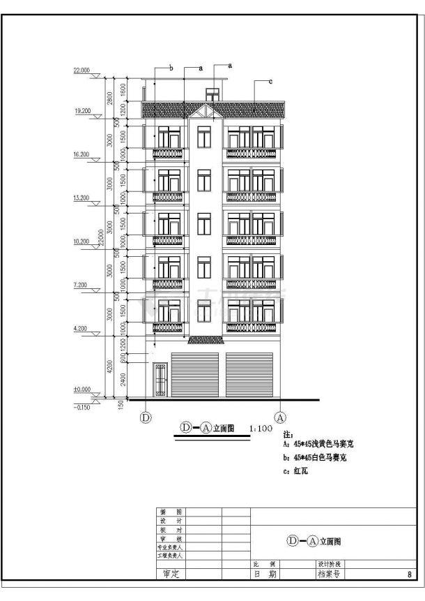 多层出租屋建筑设计的cad全套施工图-图二