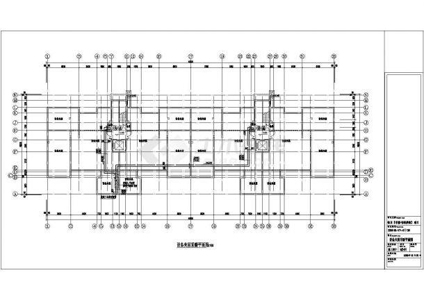 银川某住宅楼地板辐射采暖设计施工图-图一