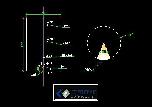 太阳能水箱设计图-图一