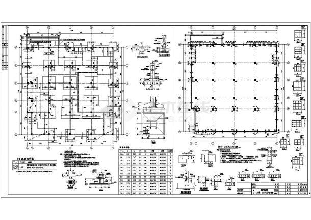 某学校实训教学楼框架结构设计施工图-图一