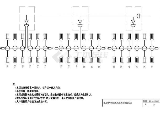 某地区某住宅公寓楼电气照明CAD施工图纸-图二