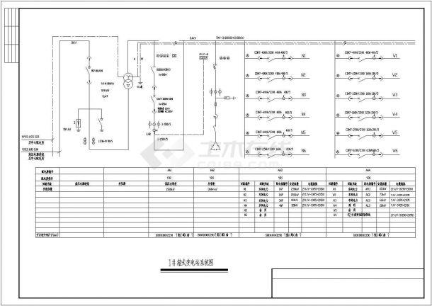 某地区小型厂房电气设计图(含设计说明)-图一
