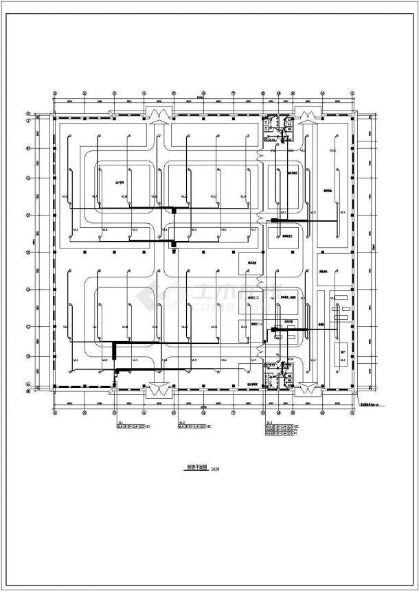 某地区大型厂房电气设计图(全集)-图一