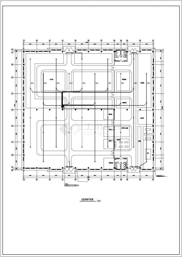 某地区大型厂房电气设计图纸(全集)-图二