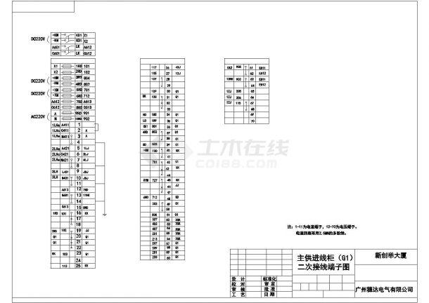 10KV高压柜二次系统设计方案全套CAD图纸-图一