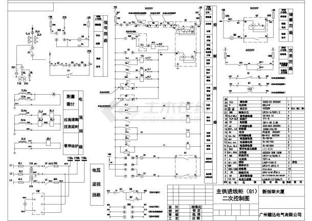 10KV高压柜二次系统设计方案全套CAD图纸-图二