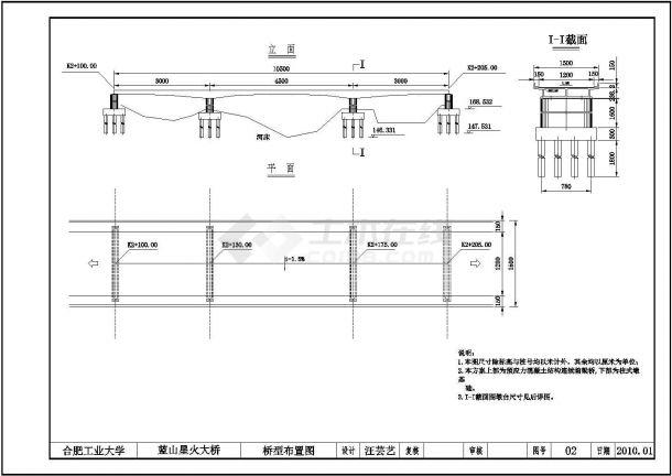 合肥工业大学三跨连续梁桥毕业设计图纸-图二