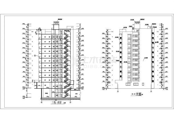 某地区高层教育小区住宅建筑设计CAD施工图-图一