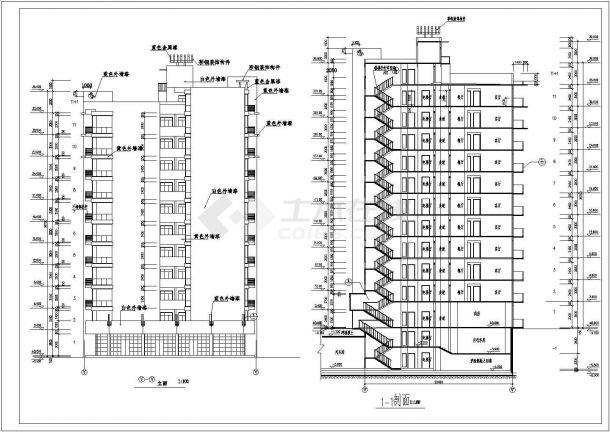 某地区高层教育小区住宅建筑设计CAD施工图-图二