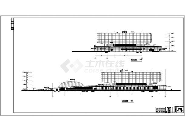 南京市金陵4层型钢混凝土结构图书馆建筑方案设计图纸-图二