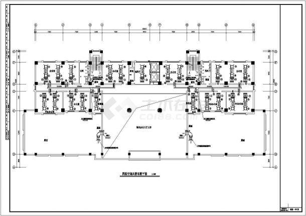 某栋办公楼溴化锂空调cad详细施工方案图纸-图二