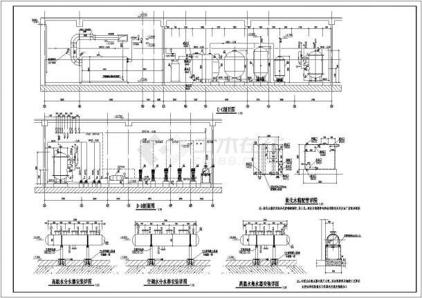 北京大型商业综合体供热锅炉房设计施工图-图一