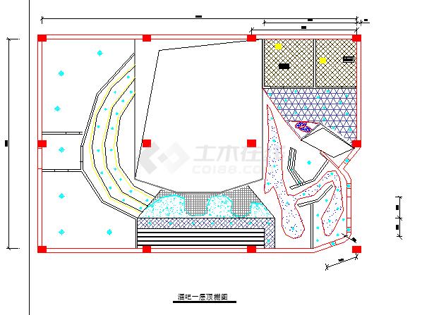 某小型酒吧装修设计方案施工图(全套)-图二