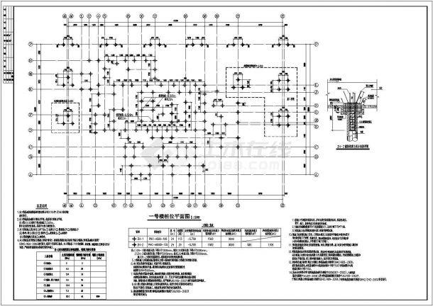 某静压预应力混凝土管桩结构施工图-图一